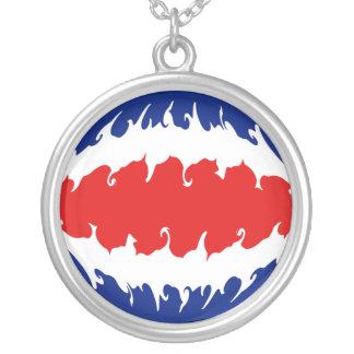 Bandeira Gnarly de Costa Rica Bijuteria Personalizada