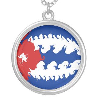 Bandeira Gnarly de Cuba Colar Com Pendente Redondo