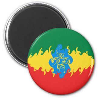 Bandeira Gnarly de Etiópia Ímã Redondo 5.08cm