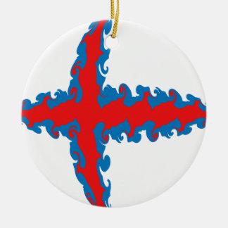 Bandeira Gnarly de Faroe Island Enfeite Para Arvore De Natal