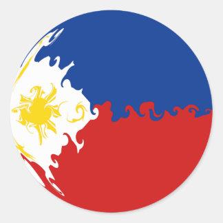 Bandeira Gnarly de Filipinas Adesivo Redondo