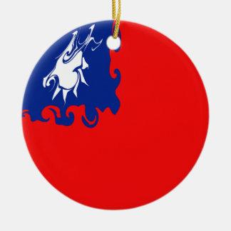 Bandeira Gnarly de Formosa Ornamento De Cerâmica Redondo