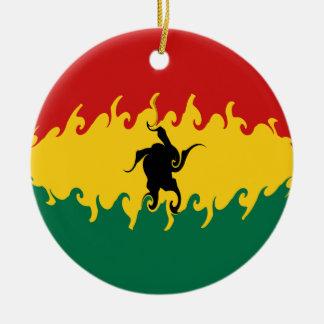 Bandeira Gnarly de Ghana Ornamentos