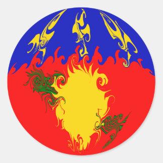 Bandeira Gnarly de Guadalupe Adesivo Redondo