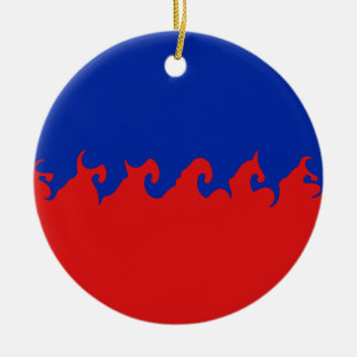 Bandeira Gnarly de Haiti Ornamento De Cerâmica Redondo