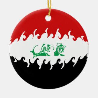 Bandeira Gnarly de Iraque Ornamento De Cerâmica Redondo