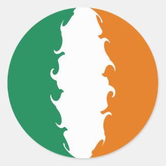 Bandeira Gnarly de Ireland Adesivos Redondos