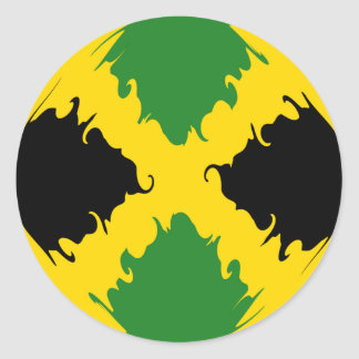 Bandeira Gnarly de Jamaica Adesivos Em Formato Redondos