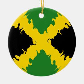 Bandeira Gnarly de Jamaica Enfeites Para Arvore De Natal