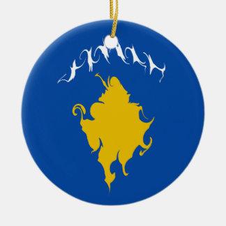 Bandeira Gnarly de Kosovo Ornamento