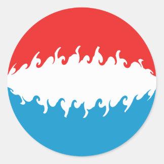 Bandeira Gnarly de Luxembourg Adesivo Redondo
