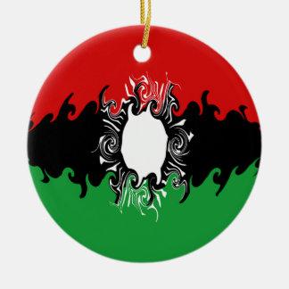 Bandeira Gnarly de Malawi Ornamento De Cerâmica Redondo