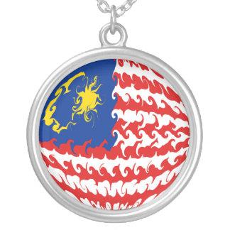 Bandeira Gnarly de Malaysia Bijuteria Personalizada
