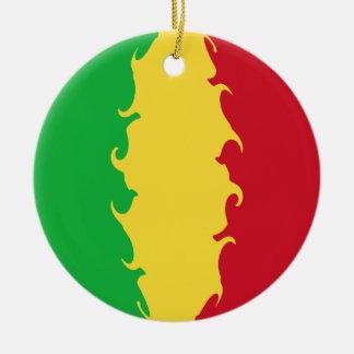 Bandeira Gnarly de Mali Ornamento De Cerâmica Redondo