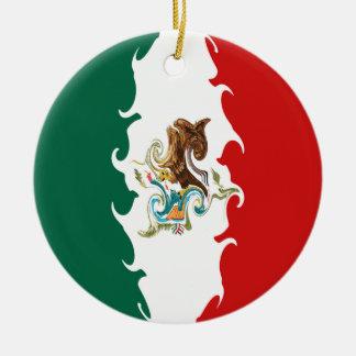 Bandeira Gnarly de México Ornamento De Cerâmica Redondo