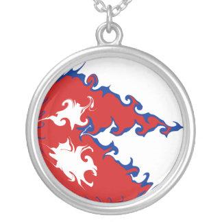 Bandeira Gnarly de Nepal Colar Banhado A Prata
