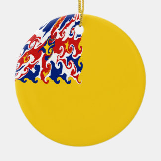 Bandeira Gnarly de Niue Ornamento De Cerâmica Redondo