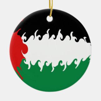 Bandeira Gnarly de Palestina Ornamento Para Arvore De Natal