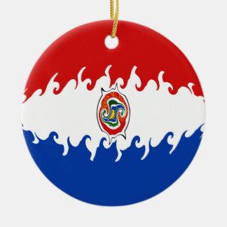 Bandeira Gnarly de Paraguai Enfeite Para Arvore De Natal