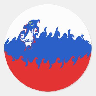 Bandeira Gnarly de Slovenia Adesivos Redondos