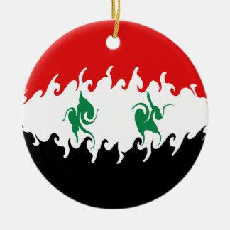 Bandeira Gnarly de Syria Ornamento De Cerâmica Redondo