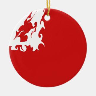 Bandeira Gnarly de Tonga Ornamento De Cerâmica Redondo
