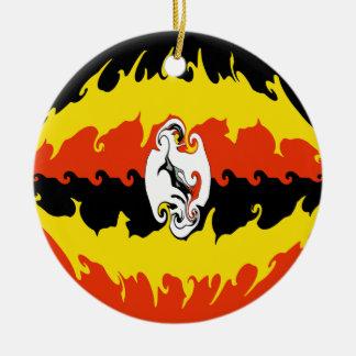 Bandeira Gnarly de Uganda Ornamentos