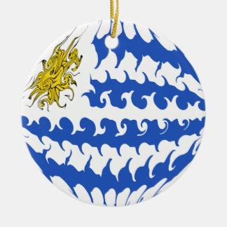 Bandeira Gnarly de Uruguai Enfeite De Natal