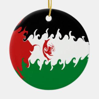 Bandeira Gnarly de Western Sahara Enfeites De Natal