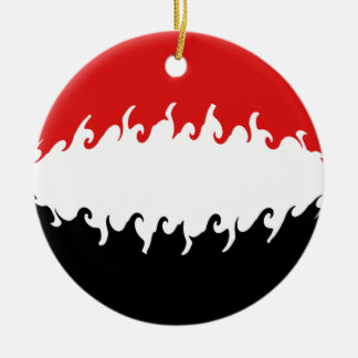 Bandeira Gnarly de Yemen Ornamento De Cerâmica Redondo