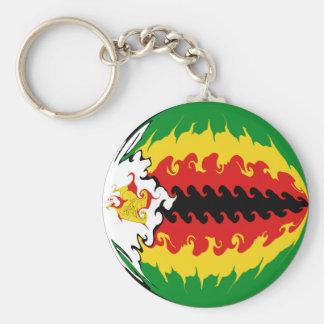 Bandeira Gnarly de Zimbabwe Chaveiro