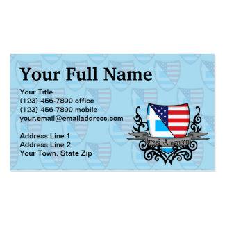 Bandeira Grego-Americana do protetor Modelo Cartões De Visita