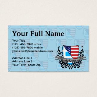 Bandeira Grego-Americana do protetor Cartão De Visitas