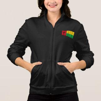 Bandeira guineense de madeira jaqueta estampada