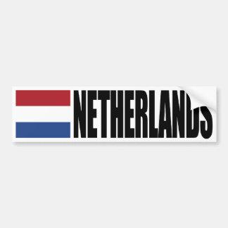 Bandeira holandesa adesivo para carro