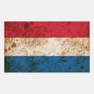 Bandeira holandesa áspera adesivos retangular