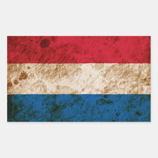 Bandeira holandesa áspera adesivos retangulares