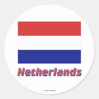 Bandeira holandesa com nome adesivo