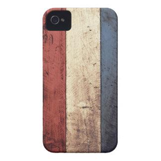 Bandeira holandesa de madeira velha capas para iPhone 4 Case-Mate
