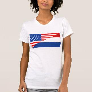 bandeira holandesa EUA de Estados Unidos América Tshirts