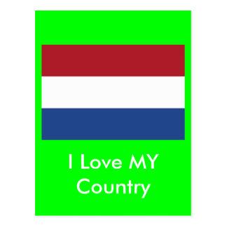 Bandeira holandesa o MUSEU Zazzle Cartões Postais