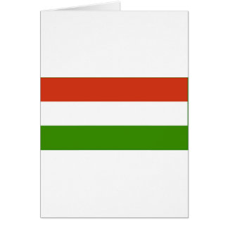 Bandeira húngara cartões