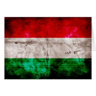 Bandeira húngara cartão de nota