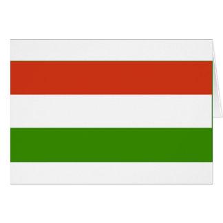 Bandeira húngara cartão comemorativo