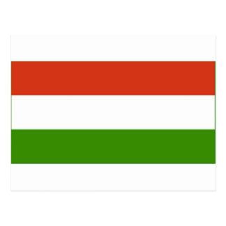 Bandeira húngara cartão postal