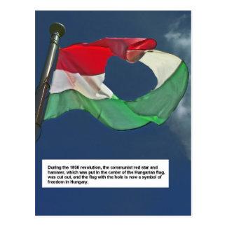 Bandeira húngara da revolução cartão postal
