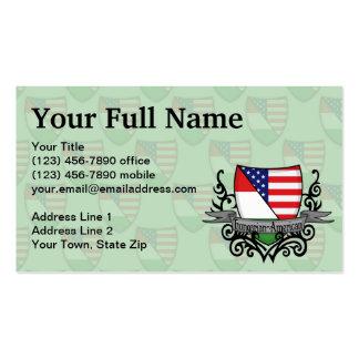 Bandeira Húngaro-Americana do protetor Cartão De Visita