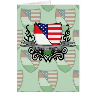Bandeira Húngaro-Americana do protetor Cartao
