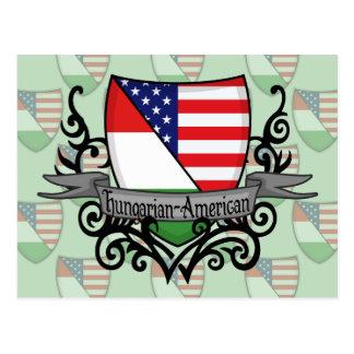 Bandeira Húngaro-Americana do protetor Cartão Postal