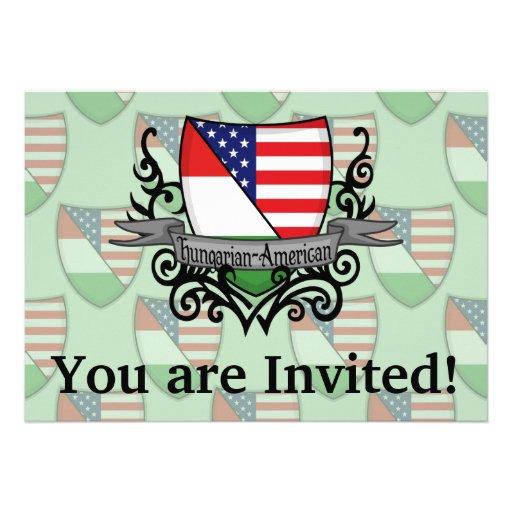 Bandeira Húngaro-Americana do protetor Convites